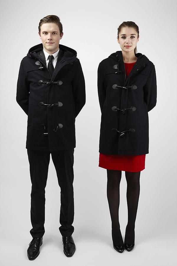 Duffle-Coat Bleu marine femme et homme